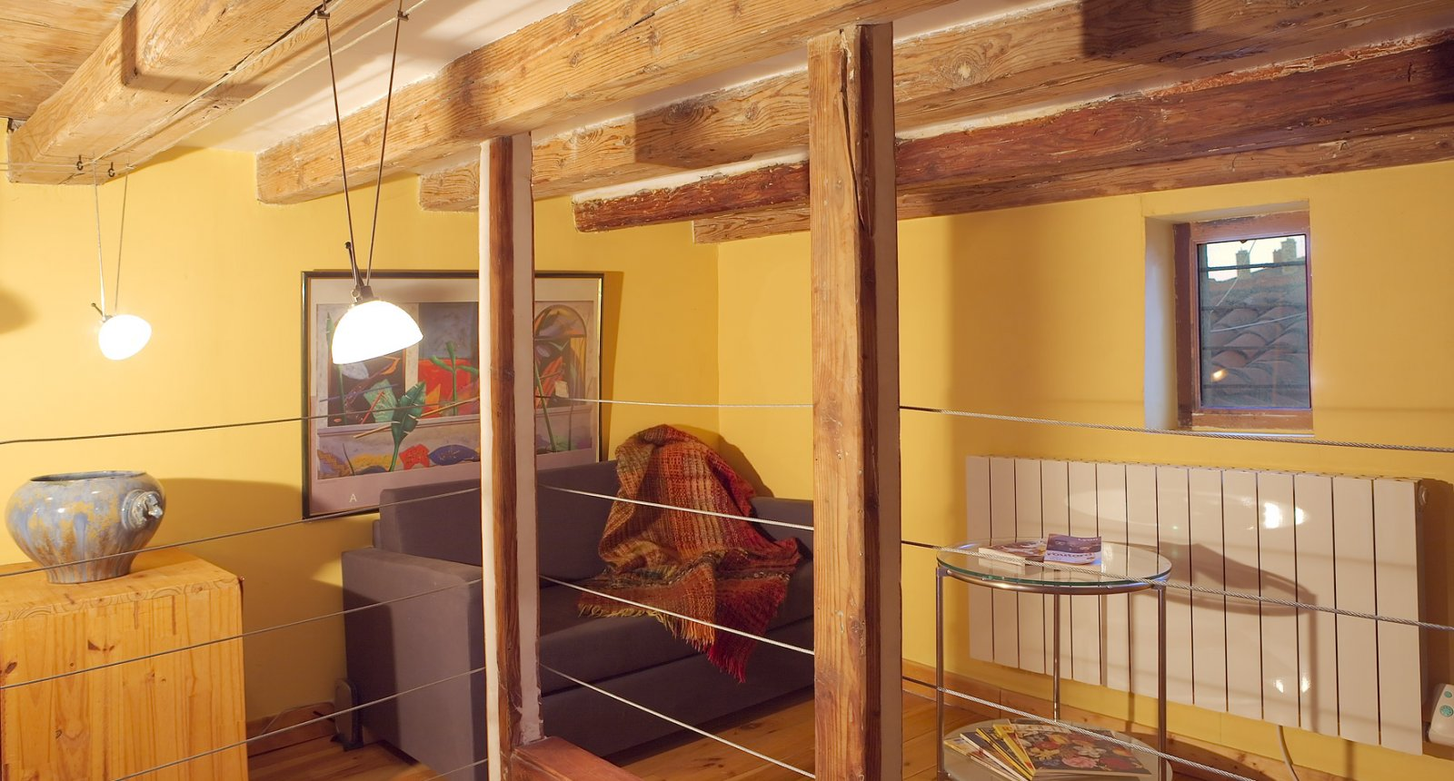 mezzanine of the self-catering apartment