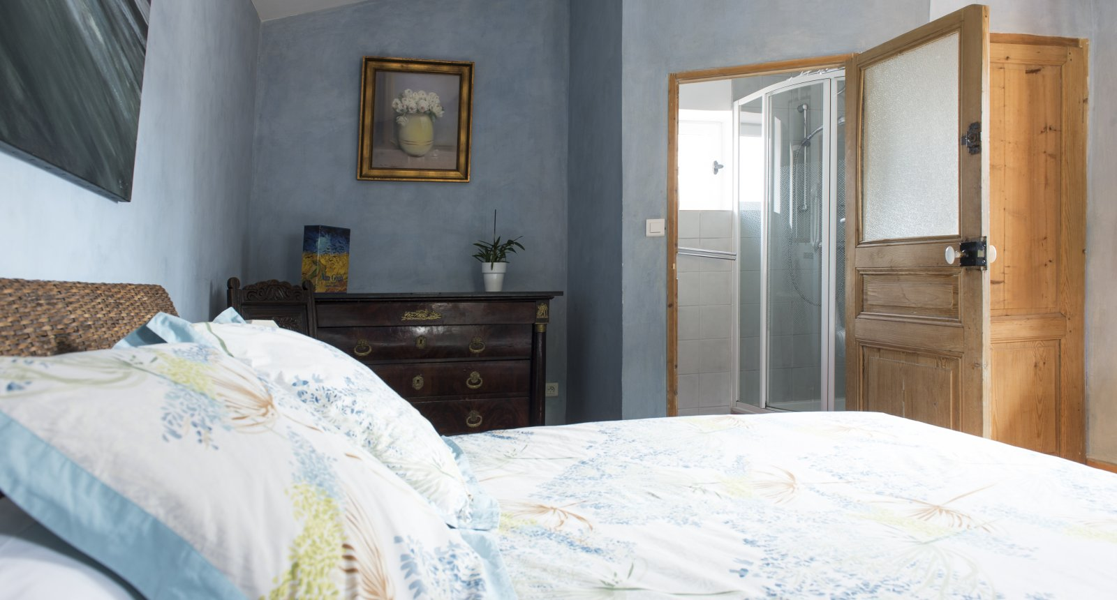 bedroom of the self-catering apartment