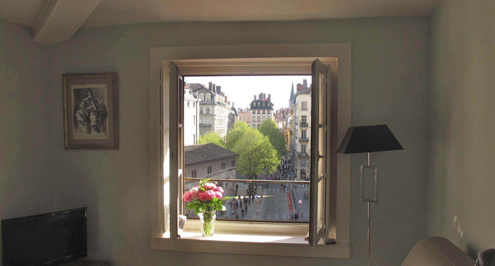 vue du salon de l'appartement meublé de tourisme