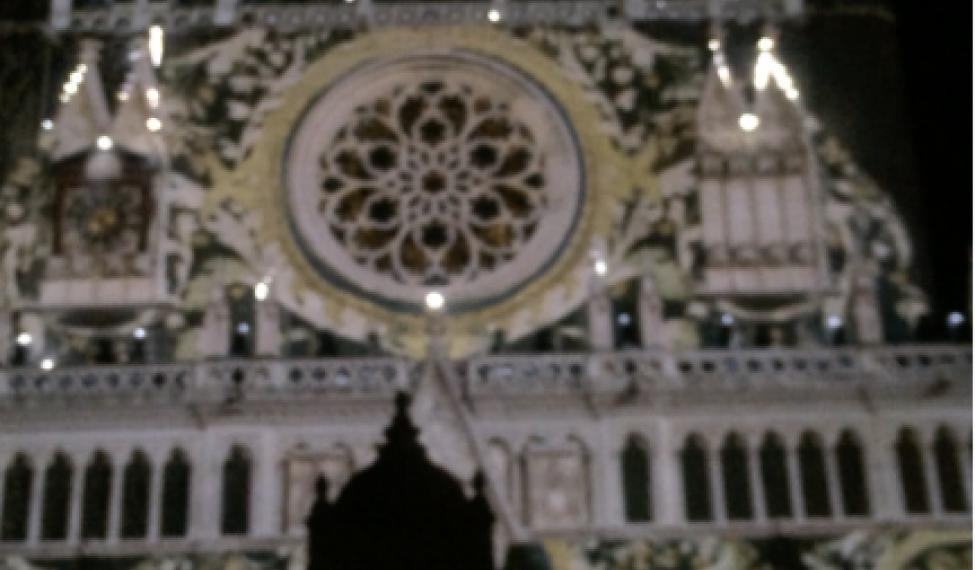 Fête des Lumières Lyon 2016 sur la Cathédrale Saint Jean
